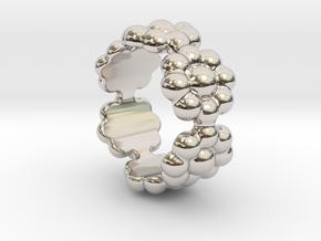 New Flower Ring 24 - Italian Size 24 in Platinum