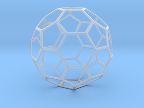 Truncated Icosahedron in Smooth Fine Detail Plastic