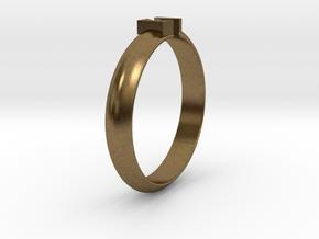 Ø18.19 Mm Design Block Arrow Ring/Ø0.716 inch in Natural Bronze