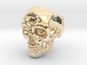 Skull Ring #9(US) in 14k Gold Plated Brass