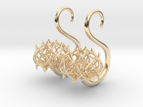 Plugs / gauges/ The Lotus Plug 8g (3.2 mm) in 14k Gold Plated Brass