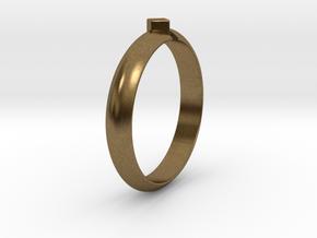 Ø18.19 Mm Design Special Arrow Ring/Ø0.716 inch in Natural Bronze