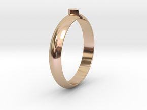 Ø18.19 Mm Design Special Arrow Ring/Ø0.716 inch in 14k Rose Gold Plated Brass
