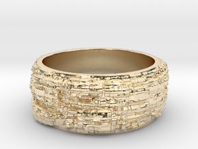 Mountainous Ring Size 10.75 in 14k Gold Plated Brass