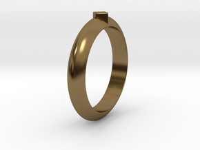 Ø18.35 Mm Functional Ring Style 1 Ø0.722 Inch in Polished Bronze
