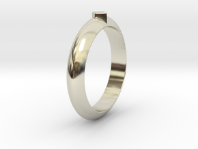 Ø18.35 Mm Functional Ring Style 1 Ø0.722 Inch in 14k White Gold