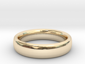 Simple Ring (Size 7) in 14k Gold Plated Brass