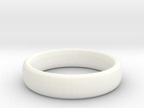 Simple Ring (Size 7) in White Processed Versatile Plastic