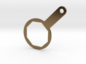 Lamborghini Oil Wrench Pendant in Polished Bronze