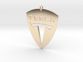 Tesla Pendant in 14K Yellow Gold