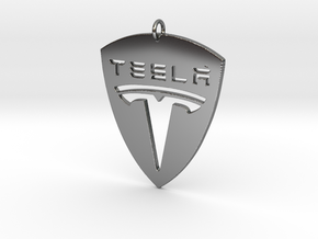 Tesla Pendant in Fine Detail Polished Silver
