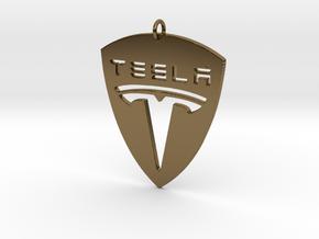Tesla Pendant in Polished Bronze
