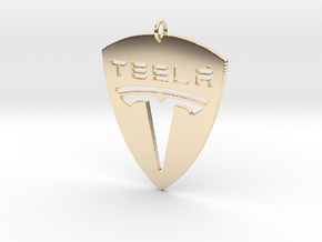 Tesla Pendant in 14k Gold Plated Brass