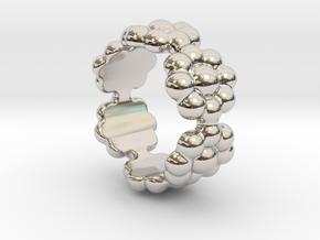 New Flower Ring 28 - Italian Size 28 in Platinum