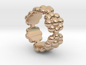 New Flower Ring 30 - Italian Size 30 in 14k Rose Gold Plated Brass