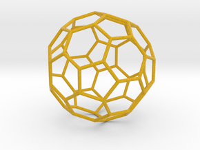 0477 Truncated Icosahedron E (8.7 см) #003 in Full Color Sandstone
