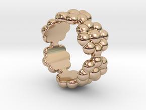 New Flower Ring 33 - Italian Size 33 in 14k Rose Gold Plated Brass