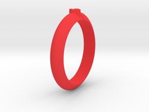 Ø18.35 Mm Arrow Square Design Ring  Ø0.722 Inch in Red Processed Versatile Plastic