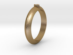 Ø18.35 Mm Arrow Square Design Ring  Ø0.722 Inch in Polished Gold Steel
