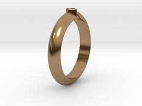 Ø18.35 Mm Arrow Square Design Ring  Ø0.722 Inch in Natural Brass