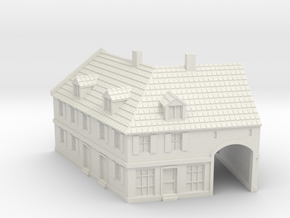 1:285-Corner House 2 in White Natural Versatile Plastic