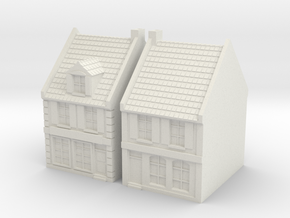 1:350 City House X2  in White Natural Versatile Plastic