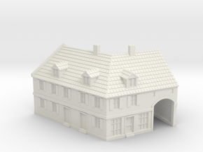 1:350-Corner House 2 in White Natural Versatile Plastic