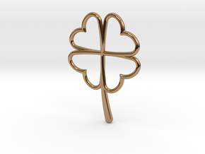 Wireframe Clover Pendant in Polished Brass