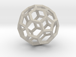 15cm Truncated Icosahedron-Archimedes09-Polyhedron in Natural Sandstone