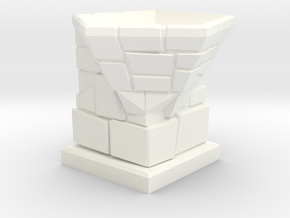 D12 Die Holder (Stone Tower) Offset in White Natural Versatile Plastic