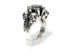 Kat Von D Engagement Ring Replica in Natural Silver