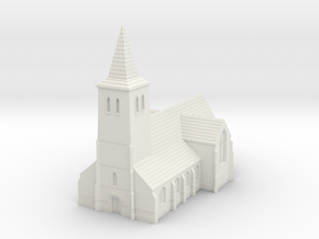 1:350-Church in White Natural Versatile Plastic