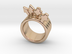 Love Forever Ring 14 - Italian Size 14 in 14k Rose Gold Plated Brass