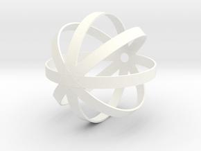 helmet Ball mount in White Processed Versatile Plastic