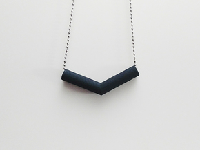Pipe Pendant N°1 in Black Natural Versatile Plastic