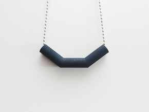 Pipe Pendant N°3 in Black Natural Versatile Plastic