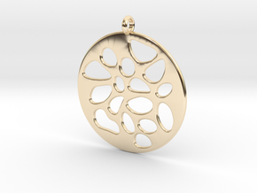 PENDANT LOBULAR in 14k Gold Plated Brass