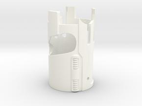 KR Lightsaber Emitter V5 Sleve in White Processed Versatile Plastic