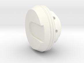 KR Lightsaber End Cap V5 in White Strong & Flexible Polished