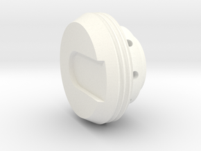 KR Lightsaber End Cap V5 in White Processed Versatile Plastic
