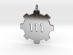 vault 111 pendant  in Polished Silver