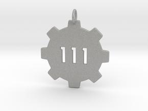vault 111 pendant  in Aluminum