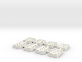 1/500 8 Cell Mk 41 VLS (x8) in White Natural Versatile Plastic