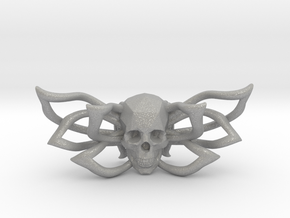 Bow tie The Skull /brooch in Aluminum