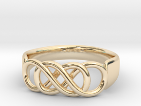 Double Infinity Ring 14.1 mm Size 3 in 14K Gold