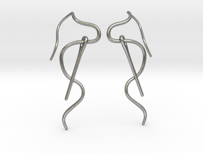 Needle And Thread Earrings in Natural Silver