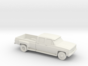 1/87 1989 Chevrolet Silverado Dually in White Natural Versatile Plastic