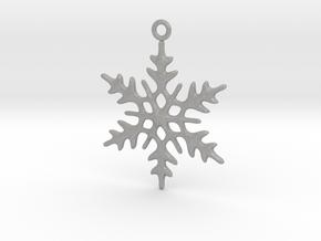 Little Romantic Snowflake Pendant in Aluminum