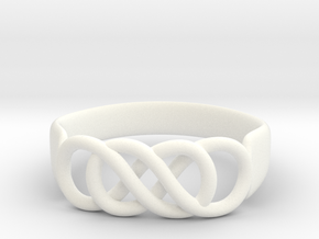 Double Infinity Ring 14.1 mm Size 3 in White Processed Versatile Plastic