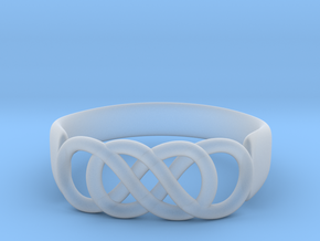 Double Infinity Ring 14.1 mm Size 3 in Smooth Fine Detail Plastic